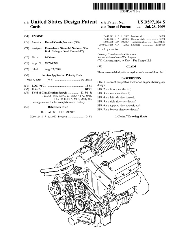 Patent example for Patent specification template